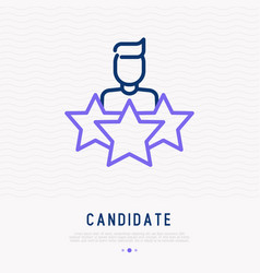 candidate searching thin line icon vector image
