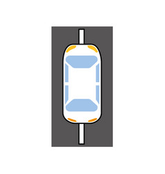 cartoon car on the road traffic navigation concept vector image vector image