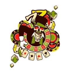 casino logo on a white background vector image vector image
