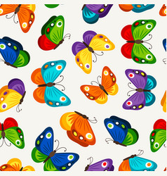 children butterfly seamless pattern vector image