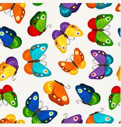 Children butterfly seamless pattern vector