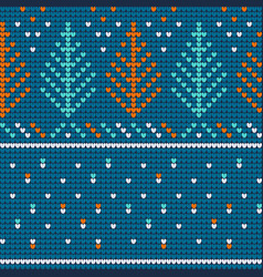 Christmas ugly sweater mint seamless pattern vector