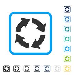 Circulation framed icon vector