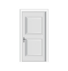 closed white entrance realistic door with frame vector image