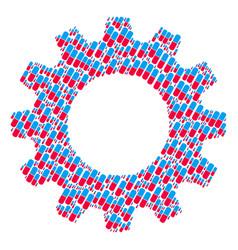 cogwheel mosaic of pill icons vector image