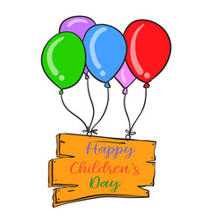 colorful balloon design childrens day vector image