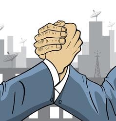 Competitive businessman vector