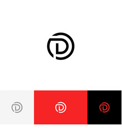 D in circle minimalism logo from letter d vector