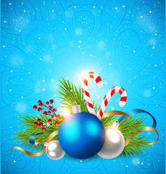 decorations on a blue background vector image