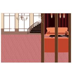 Elegant home interior vector