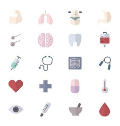 Fitness Icons and Health Icons Set Of Medical vector image
