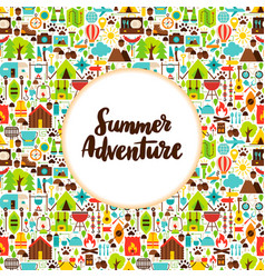 flat summer adventure greeting vector image