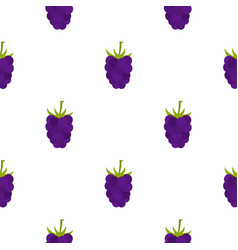 Fresh blackberry pattern flat vector