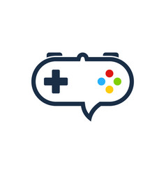 game chat logo icon design vector image