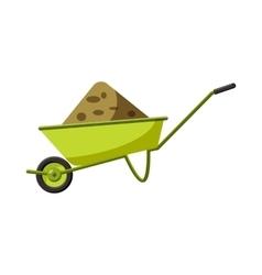 Garden wheelbarrow icon cartoon style vector image