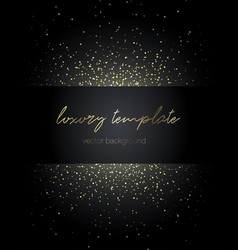 gold particles premium template for text message vector image