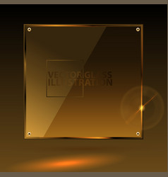 gold square glass - light background and vector image