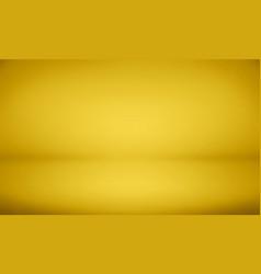 Gold studio background with spotlight gradient vector