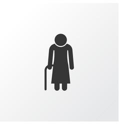 Grandma icon symbol premium quality isolated old vector