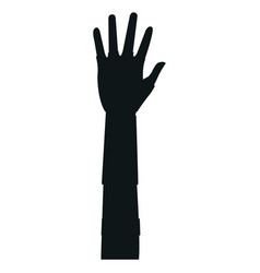 Hand showing the five fingers isolated on a white vector