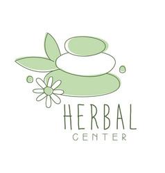 Herbal center logo symbol vector