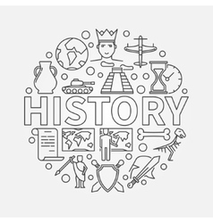 History linear vector image
