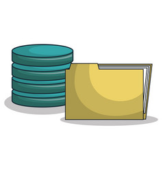 Icon folder files archive isolated vector