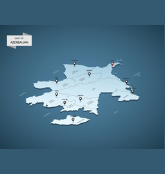 isometric 3d azerbaijan map concept vector image