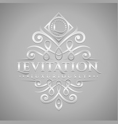 Letter l logo - classic luxurious silver vector
