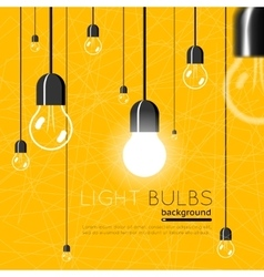 Light bulbs background Idea concept vector