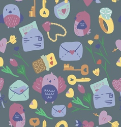Love Letter seamless pattern vector