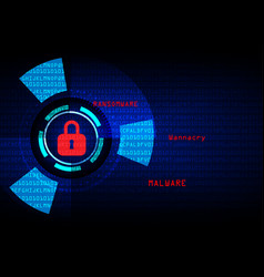 Malware ransomware wannacry virus encrypted files vector