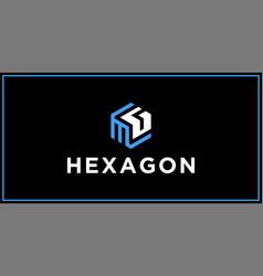 Mg hexagon logo design inspiration vector