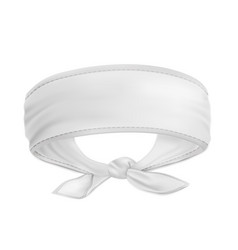 Mock up white bandana buff forehead vector