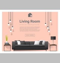 Modern living room interior background 6 vector