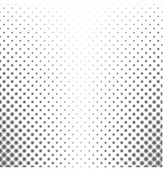 Monochrome geometric flower pattern - abstract vector