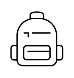 monochrome simple backpack icon vector image
