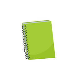 notebook isolated vector image