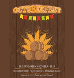 octoberfest oktoberfest promotional poster vector image