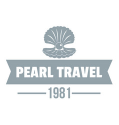 Pearl travel logo simple gray style vector
