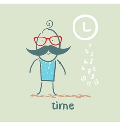 People and time vector