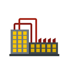 Power plant icon flat style vector