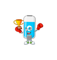 Proudly face boxing winner wall hand sanitizer vector