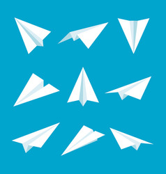 Realistic handmade paper planes collection vector