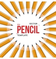 Realistic Yellow Graphite Office Pencil vector image