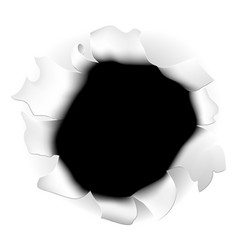 Ripped paper hole vector