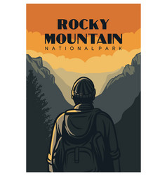 rocky mountain national park poster design vector image