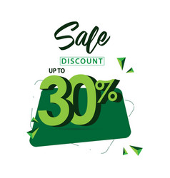 Sale discount up to 30 template design vector
