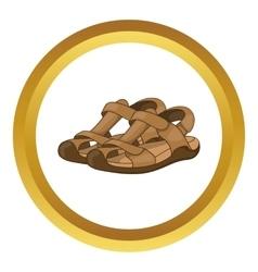 Sandals icon vector