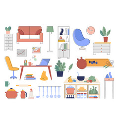 Set interior details and vector